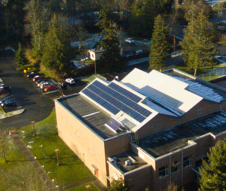 Solar Scholarship Array at the High School Gym